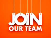 Join our team. Text hanging on the ropes Stock Images