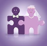 Join puzzle. Wedding concept Royalty Free Stock Photo