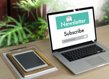 Join Register Newsletter to Update Information and Subscribe Reg. Ister Member Stock Images