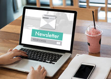 Join Register Newsletter to Update Information and Subscribe Reg Royalty Free Stock Photography