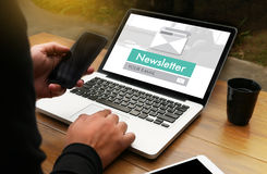 Join Register Newsletter to Update Information and Subscribe Reg. Ister Member Royalty Free Stock Photo