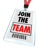 Join the Team - Lanyard and Badge Stock Images
