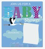 Join to Baby Shower Invitation Stock Photo