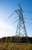 Join to elecricity. Energy transmission from power plant to customers Stock Photo