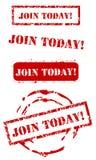 Join today stamp set Stock Photos