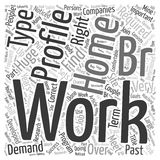 Join Train and Work At Home Today word cloud concept word cloud concept vector background Royalty Free Stock Photo