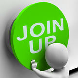 Join Up Button Means Subscribe Or Become A Member Royalty Free Stock Images