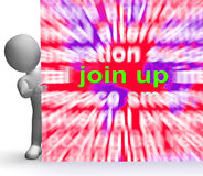 Join Up Word Cloud Sign Shows Joining Membership Register. Join Up Word Cloud Sign Showing Joining Membership Register Royalty Free Stock Photos