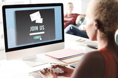 Join Us Apply Hiring Human Resources Company Concept stock photo