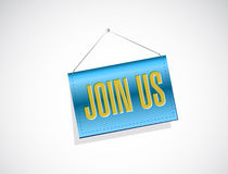 join us banner sign concept illustration design Royalty Free Stock Photos