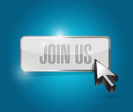 join us button and cursor sign concept Stock Photo