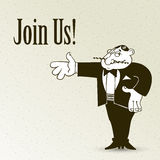 Join us, cartoon concept abstract business Stock Images