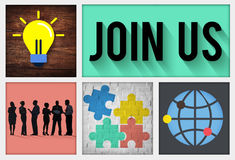 Join us Contact Business Information Medium COncept Stock Images