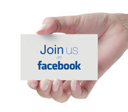 Join us on Facebook Stock Photo
