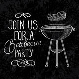 Join us for a grill party typography design Stock Photography