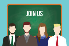 Join us hr human resource business illustration team stand together Stock Images