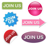 Join us icons Stock Images