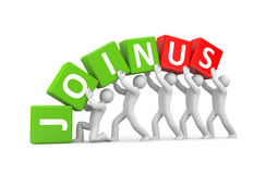 Join Us - invitation Royalty Free Stock Images