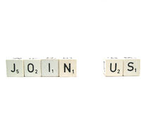 Join us now !. Don't sit around, join us now royalty free stock photos