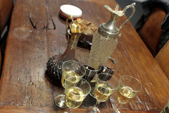 Two wine decanters Royalty Free Stock Image