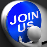 Join Us Pressed Means Register Volunteer Or Sign Up Royalty Free Stock Photo