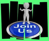 Join Us Pressed Shows Registering Membership Or Club Royalty Free Stock Photography