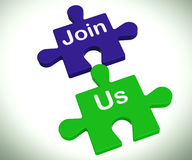Join Us Puzzle Means Register Or Become A Member Stock Photography