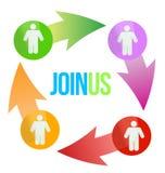 Join Us Social Network Concept Stock Photos