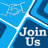 Join Us Square Royalty Free Stock Image