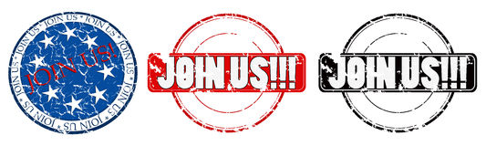 Join us stamps Stock Image