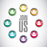 join us team diagram sign concept Stock Photography