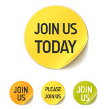 Join us today button Stock Images