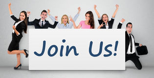 Join us word on banner Royalty Free Stock Image