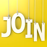 Join word hang on yellow background Stock Image
