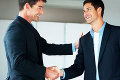 Joined in business - Businesspeople shaking hands Stock Images