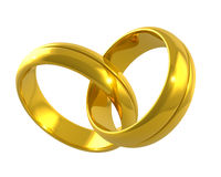 Joined golden rings Stock Image