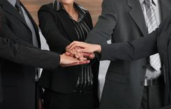 Joined hands Royalty Free Stock Photo