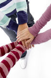 Joined hands of friends Royalty Free Stock Images