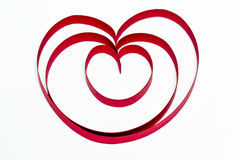 Joined hearts. Heart shapes joined together to show symbol of love Royalty Free Stock Images