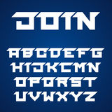 Joined roofed font alphabet letters Stock Image