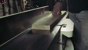 Joiner przetwarza workpiece drewniana deska spajać maszynę zbiory