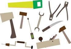 Joiner's tools Royalty Free Stock Image