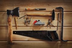 Joiner`s tools Royalty Free Stock Photo