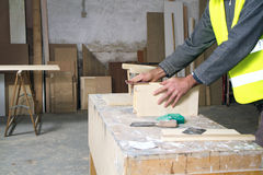 Joiner at work Stock Photos
