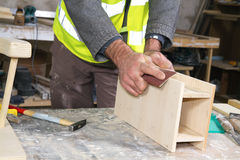 Joiner at work Stock Image