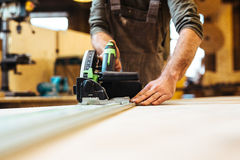 Joiner at work Royalty Free Stock Photo