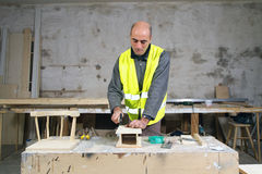 Joiner at work Royalty Free Stock Image