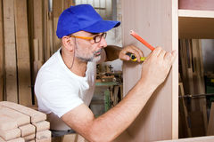 Joiner at work Stock Photo