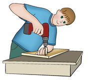 Joiner working Stock Image