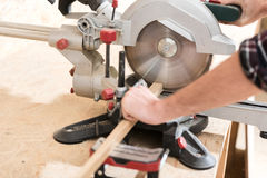 Joiner is working with specialized tool Royalty Free Stock Photo